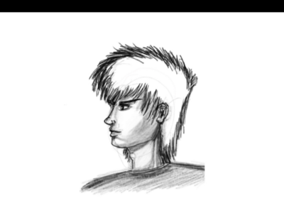 Portrait sketch ink illustration pencil sketch pencil ink inktober slamdunk anime mangaart black  white procreate illustration dribbble
