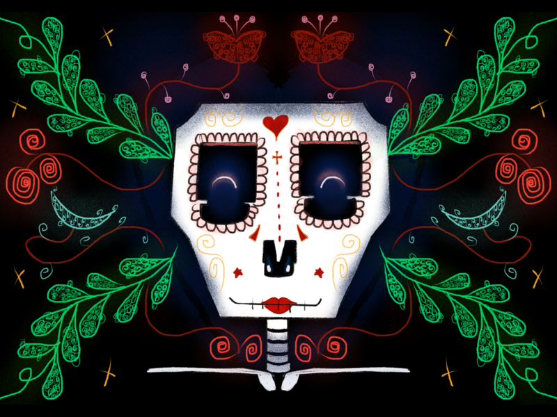 Nuestra Señora halloween happy children art procreate illustration dribbble