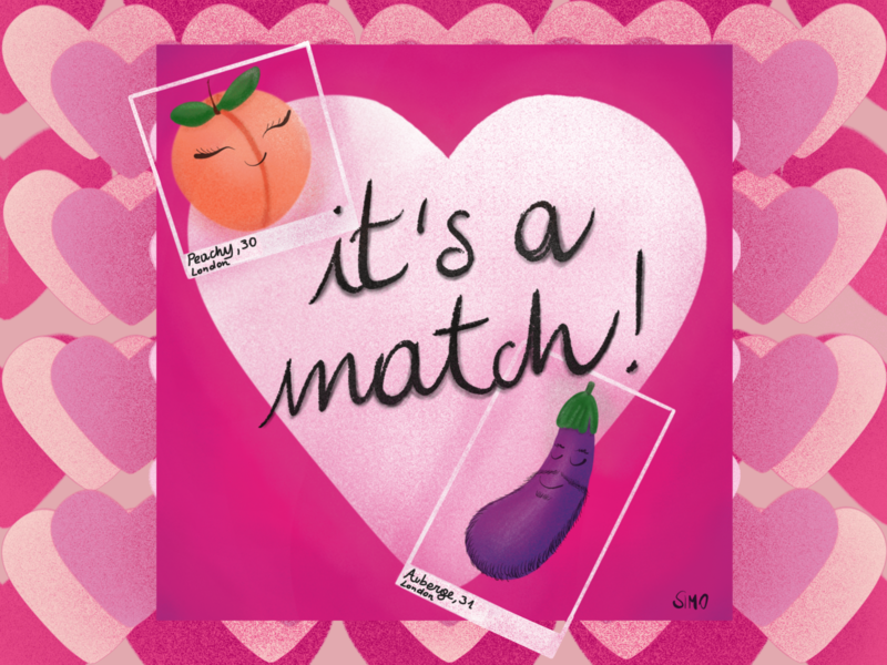Tinder Valentines happy cute valentine card valentine day pink tinder love procreate illustration dribbble