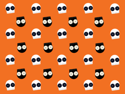 Halloween pattern dribbbleweeklywarmup orange cute illustration skull halloween dribbble procreate