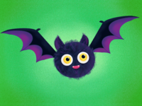Pipistrello dribbbleweeklywarmup spooky procreate dribbble illustration cute pipistrello bat halloween