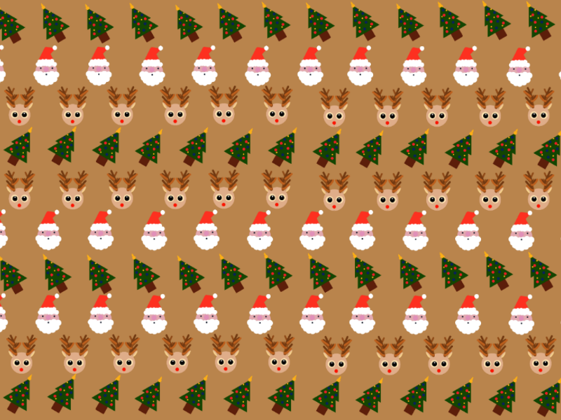 Christmas Pattern rudolf christmastree tree santaclaus santa reindeer christmas cute pattern children illustration procreate dribbble
