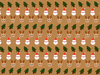 Christmas Pattern rudolf christmastree tree santaclaus santa reindeer christmas cute pattern children illustration procreate dribbble