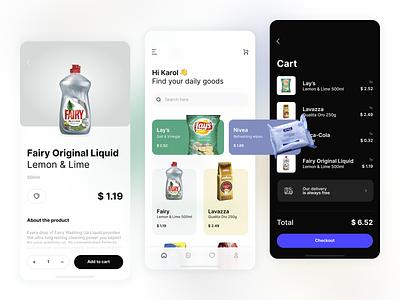 Shopping App background blur blur shopping cart cart shop ecommerce app ecommerce design ui ios mobile application app