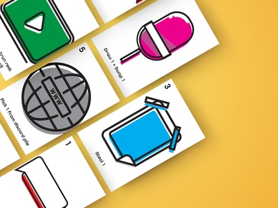 Marketing Cardgame Prototype card  game game design vector icon