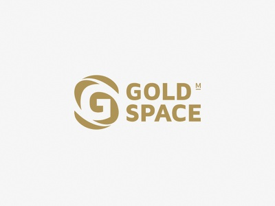 GOLD SPACE money marketing space gold s g design branding logo