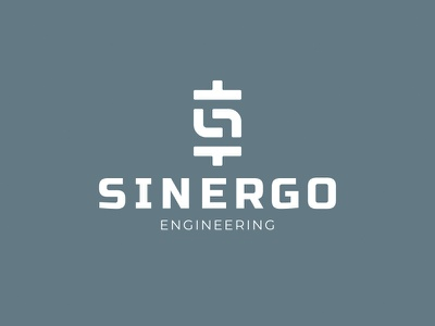 Sinergo Engineering parts pipes s design logo branding