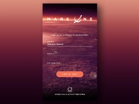 Want to live on Mars? - #001 Daily UI Sign up