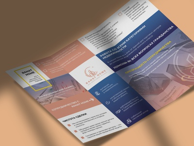 Tri Fold brochure template for turkish company