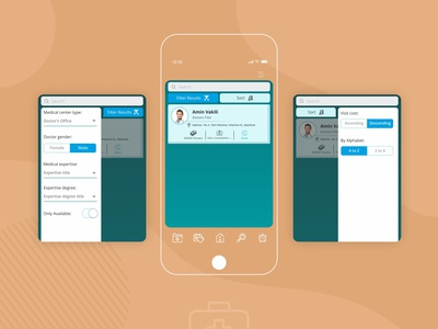 Doctor List - Health app application illustration health app drmyco design ui app design healthcare oppointment booking doctor app health