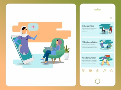 online doctor choices and illustation ux illustrator ui design application health app drmyco app design design illustration ui app medical doctor online doctor