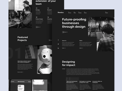Reedus - Profile Company Landing Page website web design agency landing page homepage ui ux agency profile company studio design new