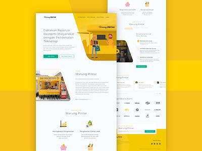 Warung Pintar Landing Page - Unofficial redesign stratup warung pintar warung ux design ui design clean web design ux ui