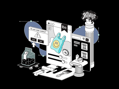 Art of Product Design 2d art illustrator uiux shapes art productdesign product ux ui blackandwhite design drawing vector illustration