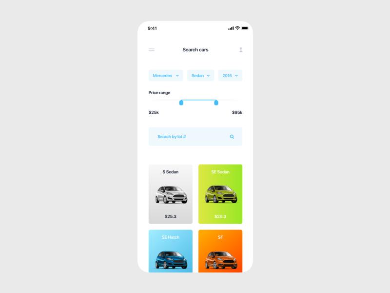 Car buying app clean ios minimal type web icon typography website flat mobile app design ux ui