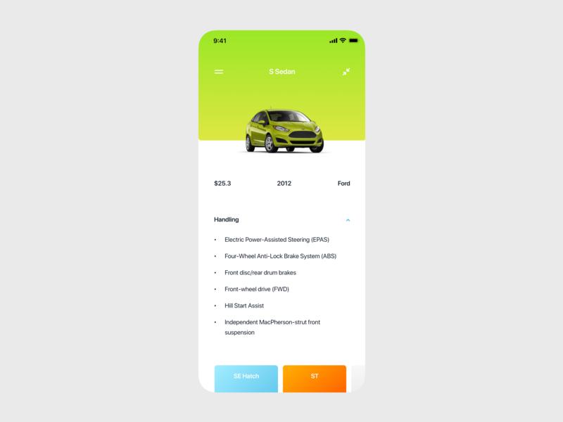 Car page minimal ios icon flat ui mobile app