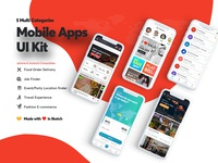 5 Categories App UI Kit For Sale