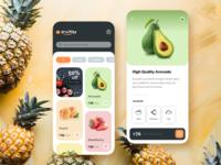 Fruitify - A Fruit & Vegs Deliver App ux design app ui