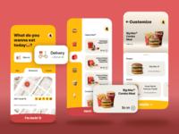A redesign of McDonald's app branding ios ux icon illustration app ui