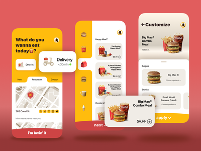A redesign of McDonald's app branding ios ux icon illustration app ui