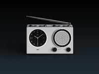 Braun Clock Radio in Skeuomorphism