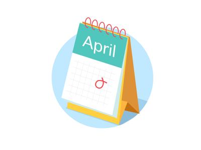 Calendar illustration sketch