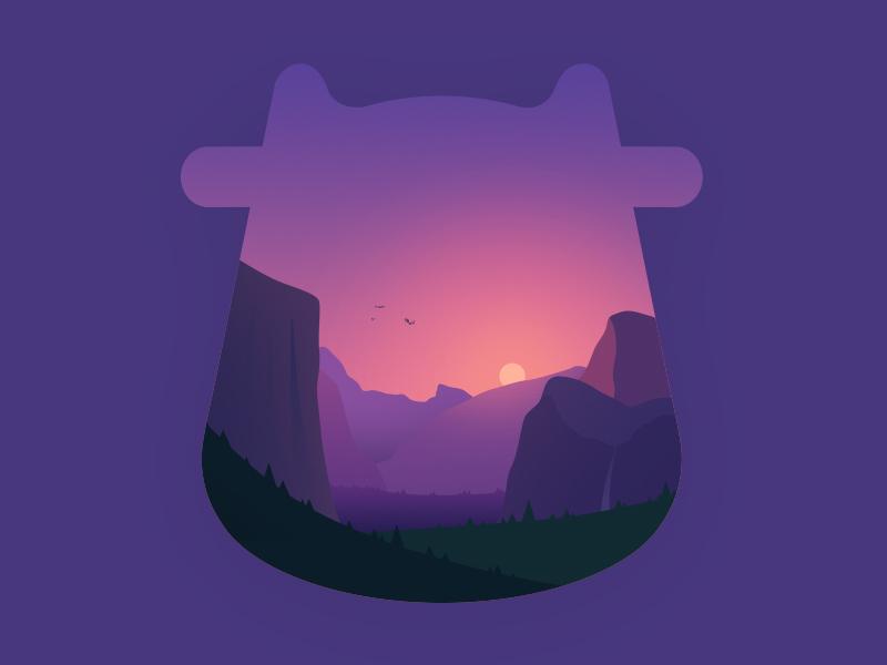 Yosemite Park travel sunset forrest nature pink landscape purple mountain yosemite