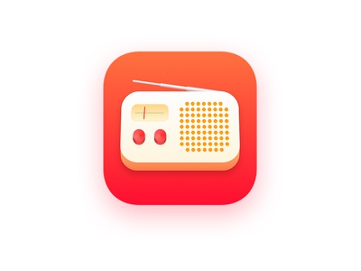 Radio / Podcast App Icon podcast logo radio app podcast app radio icon app icon icon music radio ios app