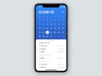 Gesture based calendar app