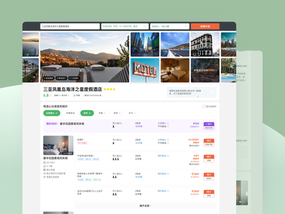 Hotel Booking Website hotel web design ui
