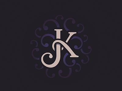 Jay Kay logo magic j k type lettering initials monogram magician typographie