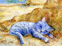 Cats in Different Art Styles - Inspired by Van Gogh