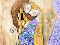 Cats in Different Art Styles - Inspired by Gustav Klimt