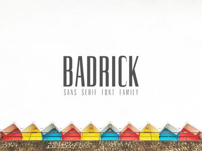 Badrick Sans Serif Font Family