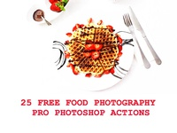 25 Food Photography Pro Photoshop Actions