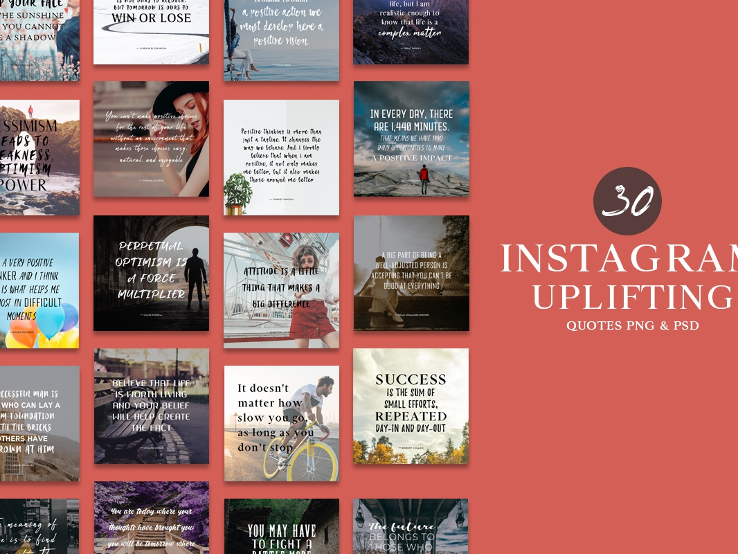 30 Free Instagram Uplifting Quotes Png Psd Templates By