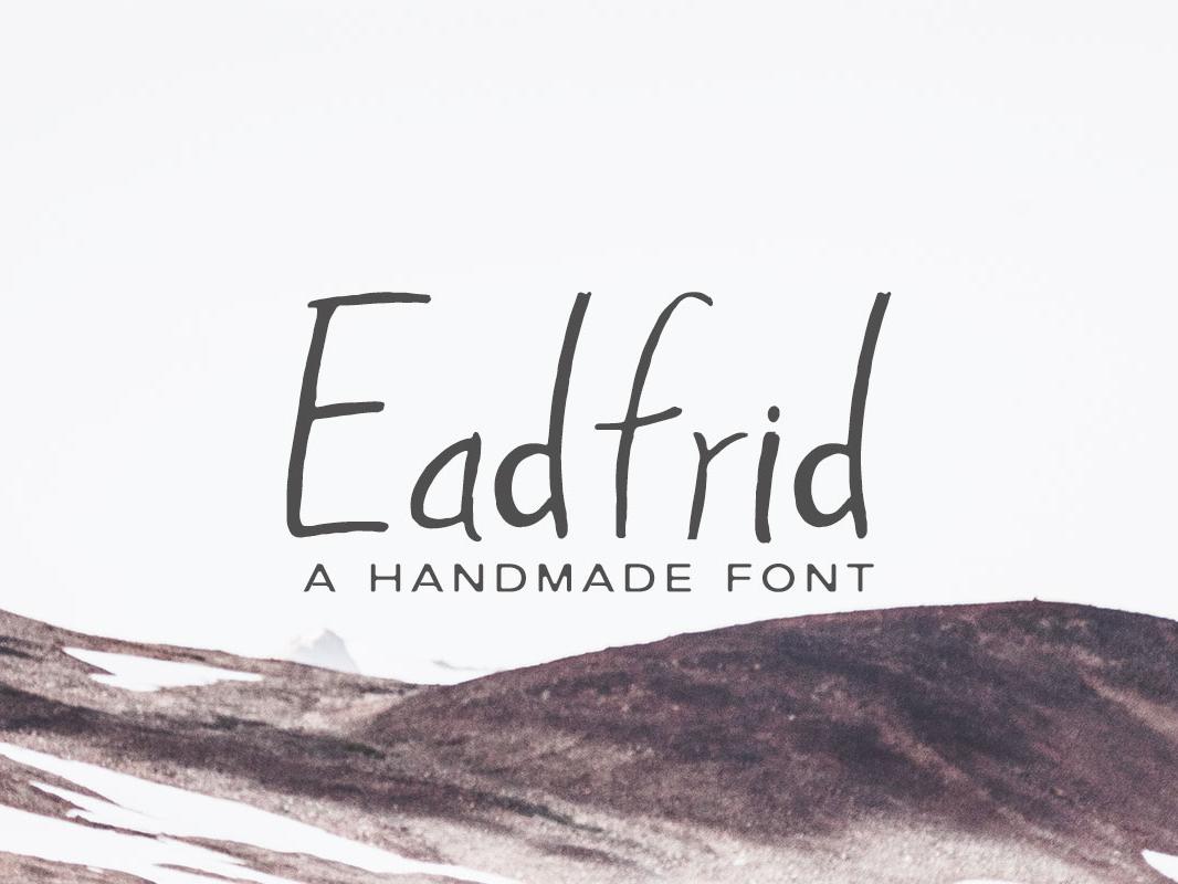 Free Eadrifd Handmade Font brush font handwritten font handwritten brush font hand drawn font handwriting creative font awesome font quality font script font handmade font
