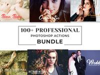 100 Professional Photoshop Actions Bundle