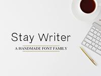 Stay Writer Free Handmade Font Family