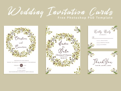 Psd Wedding Invitations Designs Themes Templates And