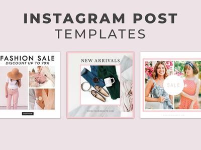 5 Free Fashion Instagram Social Media Post Templates Vol.1