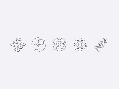 Genome Icons iconography science icons linework icon set 829 creative dan fleming design
