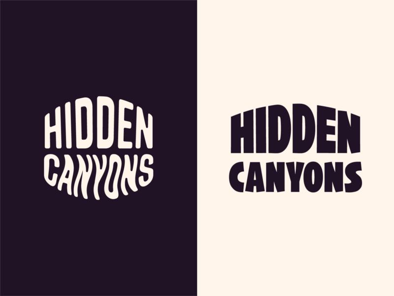 Hidden Canyons Logo Explorations logo design wordmark lettering branding 829 creative dan fleming design