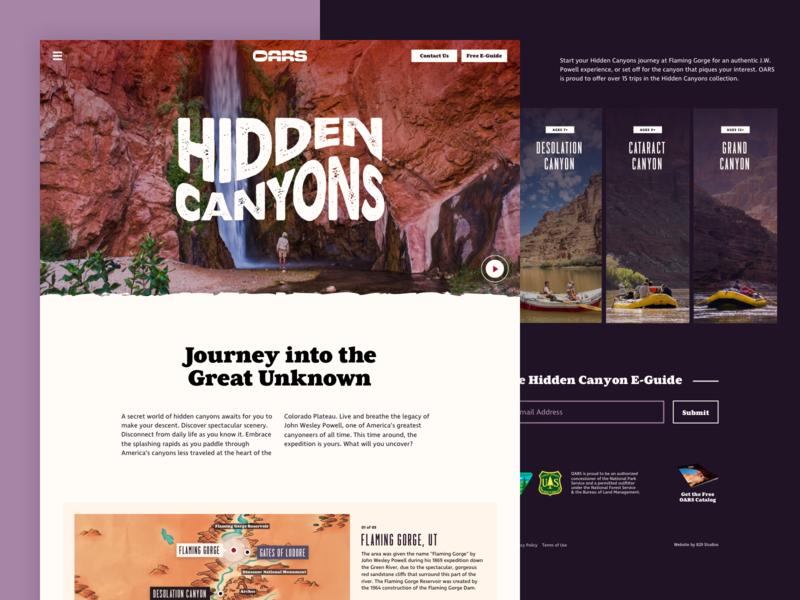 Hidden Canyons Microsite ui website branding 829 creative dan fleming design