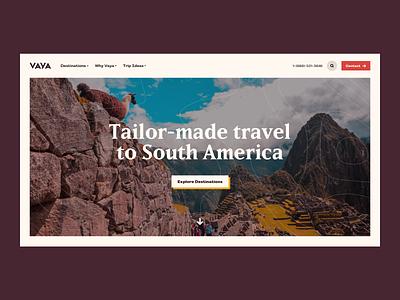 VAYA website website ui 829 creative dan fleming design