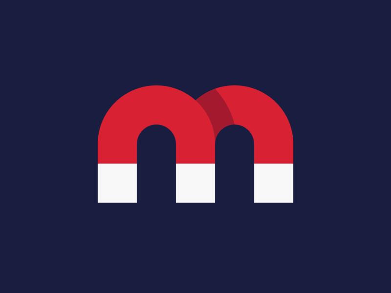 magnet monogram magnetic m branding magnet symbol logo brand identity creative design dan fleming