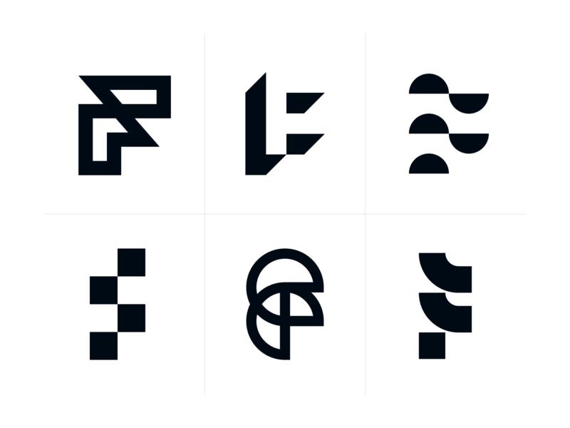 F monograms f monogram branding brand identity creative design dan fleming