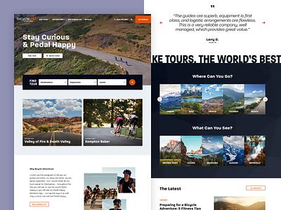 Bicycle Adventures – Homepage web design user interface website ux ui 829 creative design