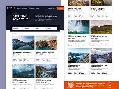 Bicycle Adventures – Tour Finder web design website ui 829 creative dan fleming design