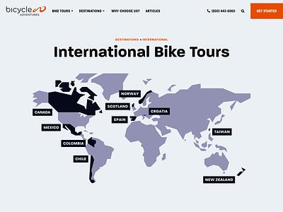Bicycle Adventures – Destinations website web design ui 829 creative design dan fleming